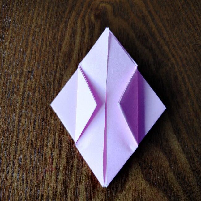ひな祭りの折り紙 ひなあられの折り方 (10)