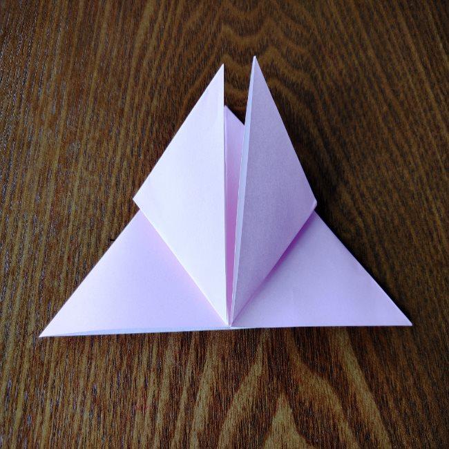 ひな祭りの折り紙 ひなあられの折り方 (8)