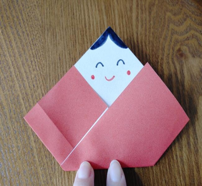 ひな祭り製作は2歳児3歳児からOK!折り紙の簡単な作り方 (5)