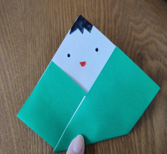 ひな祭り製作は2歳児3歳児からOK!折り紙の簡単な作り方 (6)