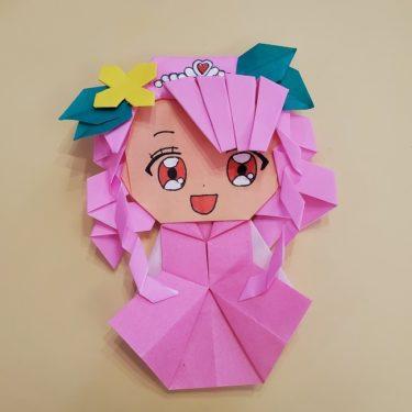 キュアグレースの折り紙★ヒーリングっとプリキュアのおりがみの作り方・折り方