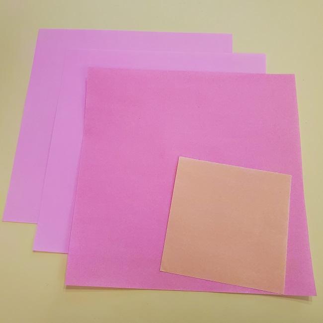 キュアグレースの折り紙*用意するもの (1)