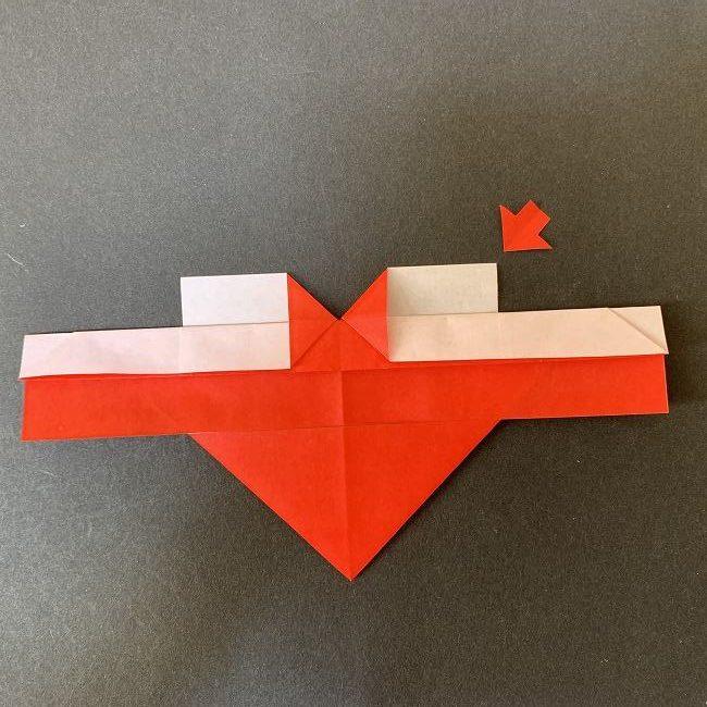 ハート型リースの作り方(折り紙) (11)