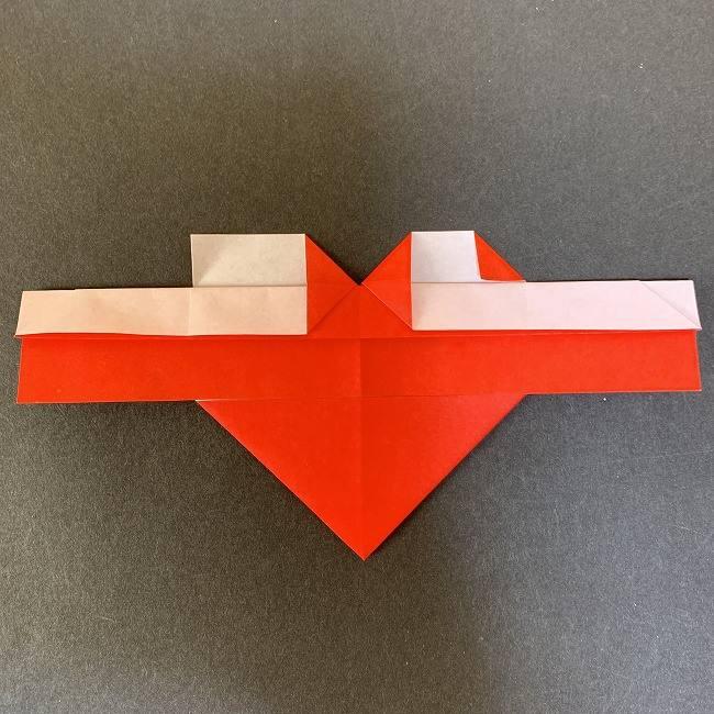 ハート型リースの作り方(折り紙) (12)
