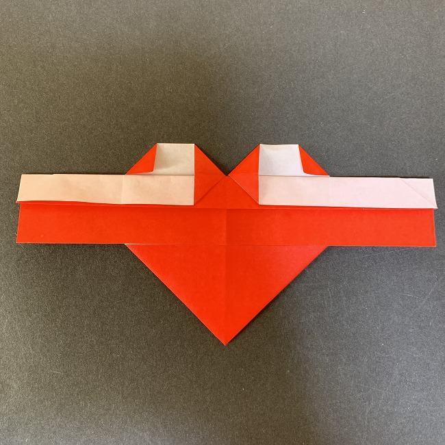 ハート型リースの作り方(折り紙) (13)