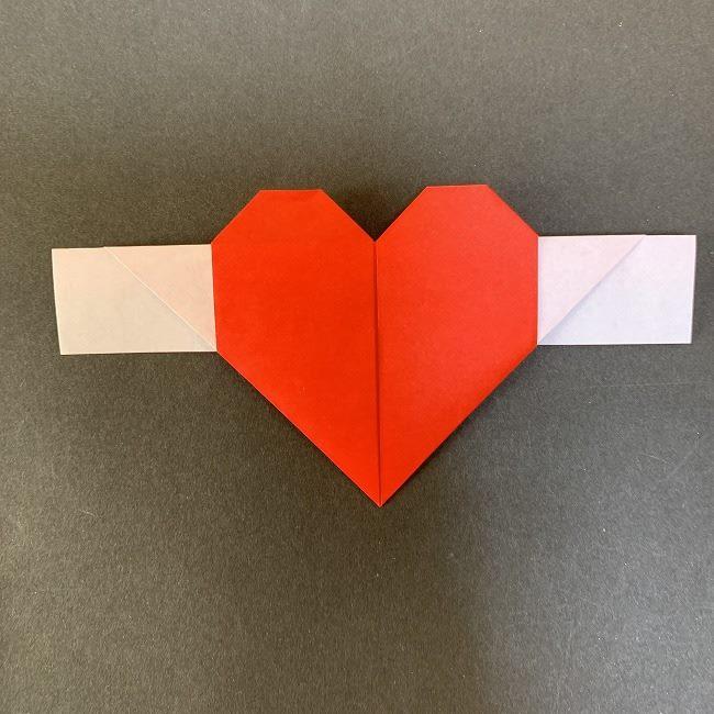 ハート型リースの作り方(折り紙) (14)