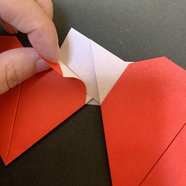 ハート型リースの作り方(折り紙) (16)