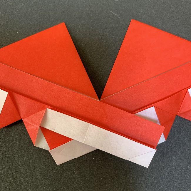 ハート型リースの作り方(折り紙) (17)