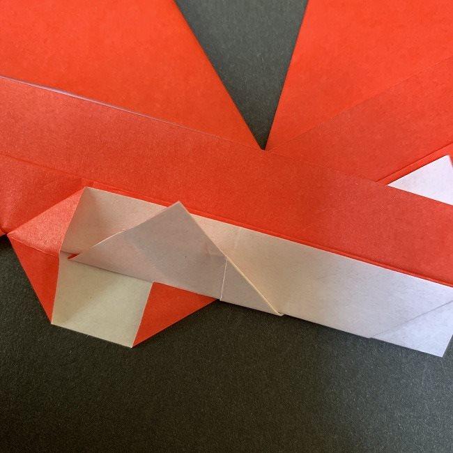 ハート型リースの作り方(折り紙) (18)
