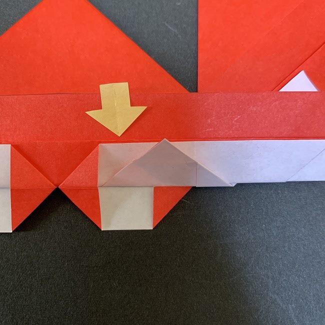 ハート型リースの作り方(折り紙) (19)
