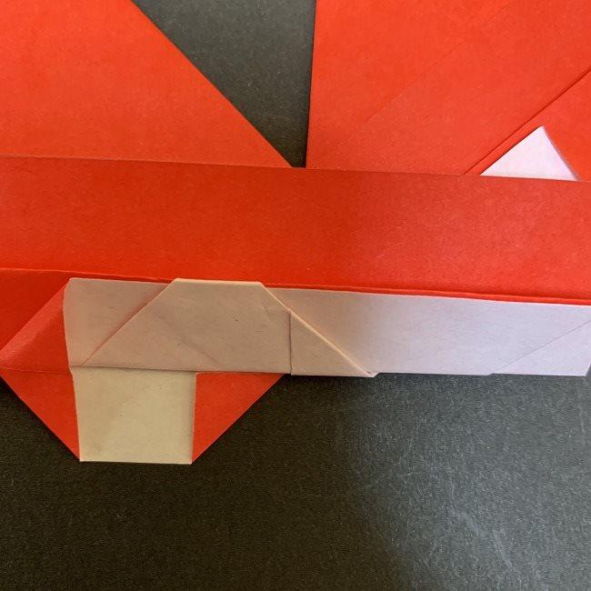 ハート型リースの作り方(折り紙) (20)