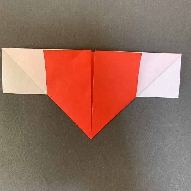 ハート型リースの作り方(折り紙) (8)