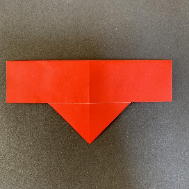 ハート型リースの作り方(折り紙) (9)