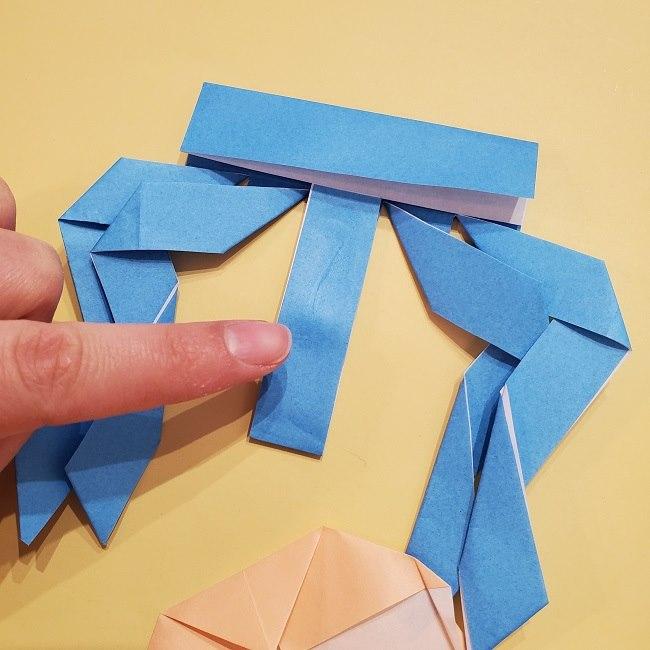 プリキュアの折り紙の作り方【キュアフォンテーヌ】 (35)