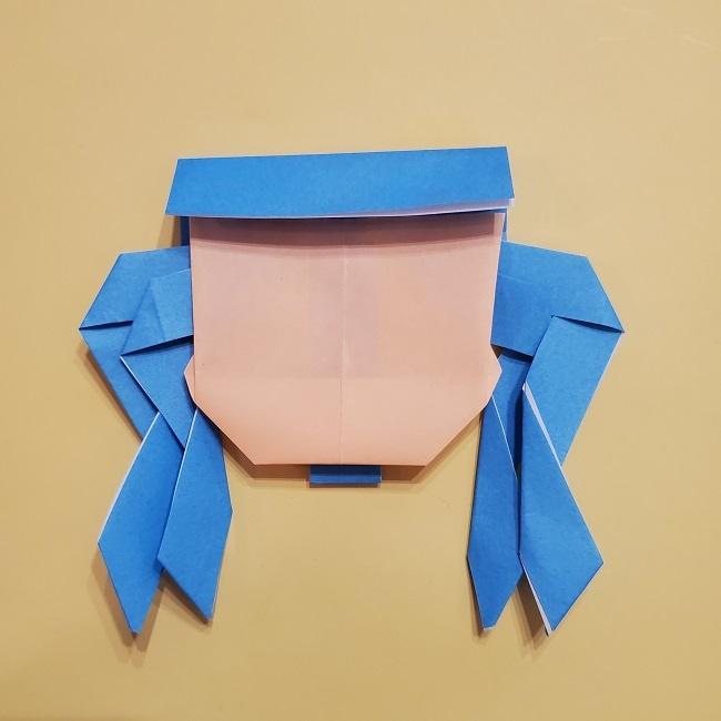 プリキュアの折り紙の作り方【キュアフォンテーヌ】 (36)