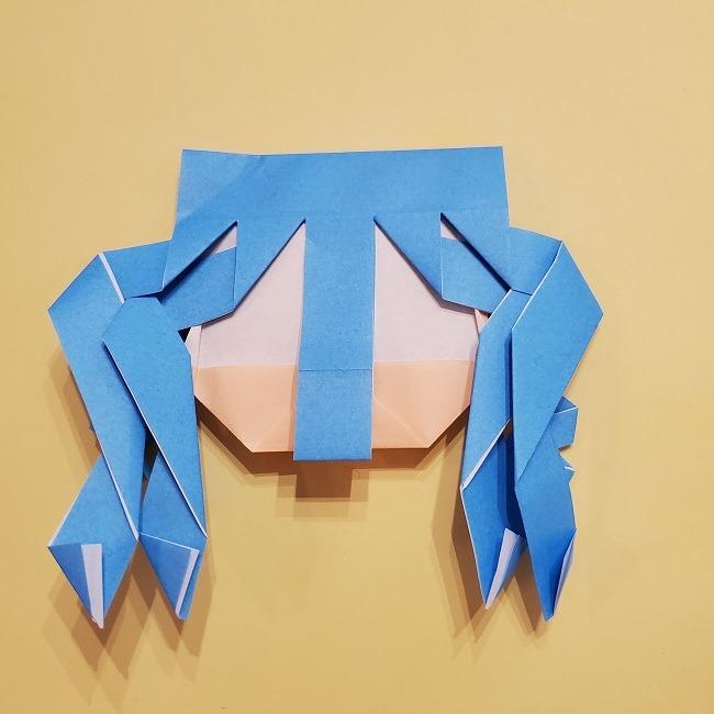 プリキュアの折り紙の作り方【キュアフォンテーヌ】 (39)