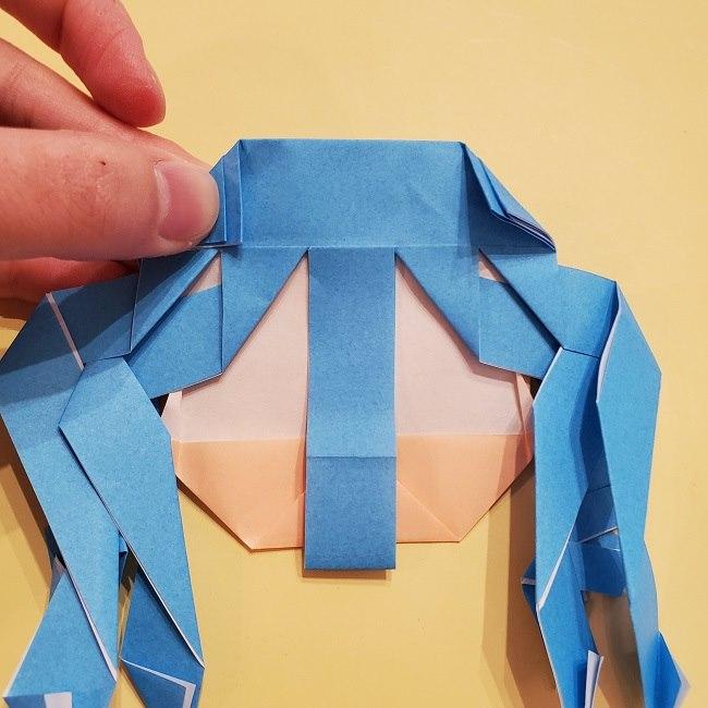 プリキュアの折り紙の作り方【キュアフォンテーヌ】 (40)