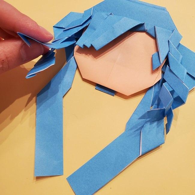 プリキュアの折り紙の作り方【キュアフォンテーヌ】 (42)