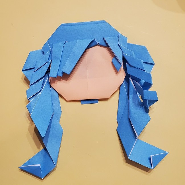 プリキュアの折り紙の作り方【キュアフォンテーヌ】 (43)