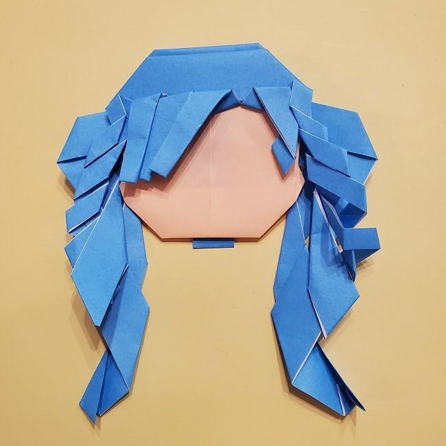 プリキュアの折り紙の作り方【キュアフォンテーヌ】 (44)