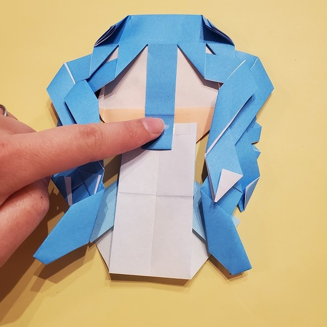 プリキュアの折り紙の作り方【キュアフォンテーヌ】 (51)
