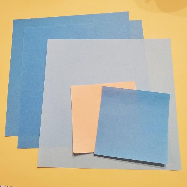 プリキュアキャラの折り紙☆キュアフォンテーヌ☆用意するもの (1)