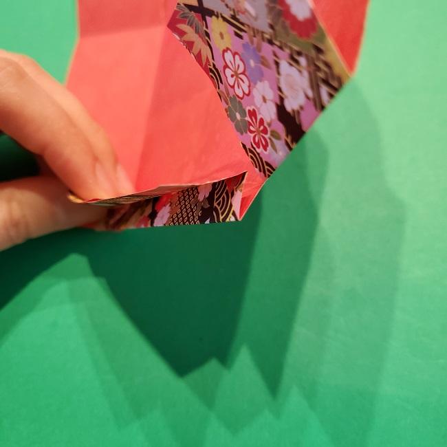 折り紙【1月の壁掛けフレーム】の作り方 (15)