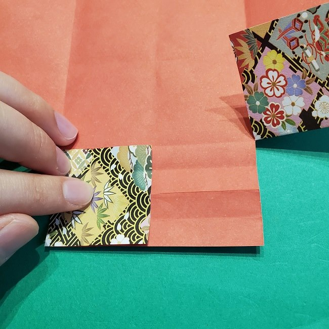 折り紙【1月の壁掛けフレーム】の作り方 (16)