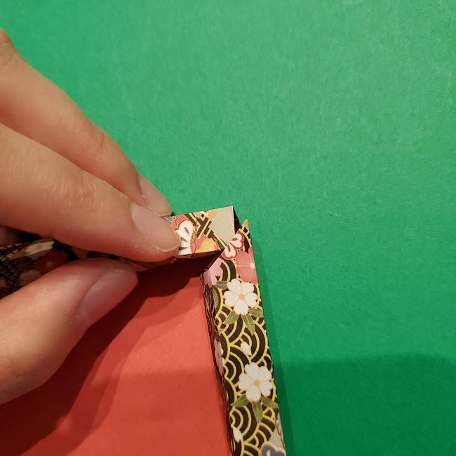 折り紙【1月の壁掛けフレーム】の作り方 (25)
