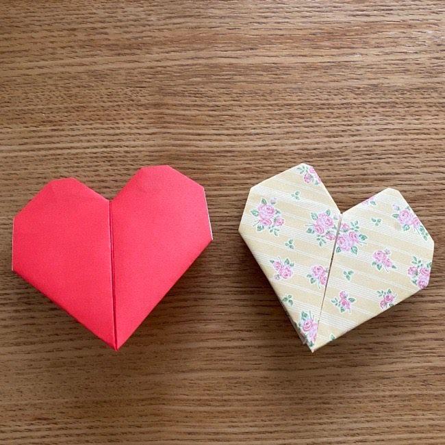 折り紙つくった名札はハート型でかわいい♪しかも簡単!