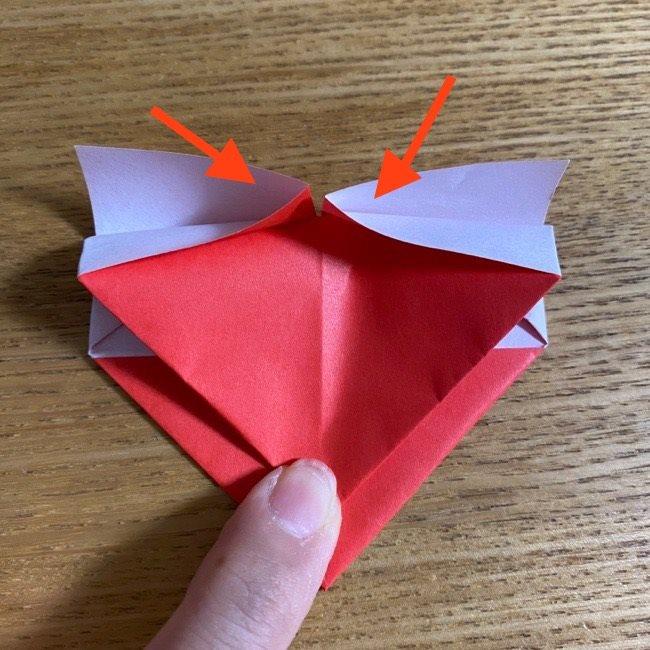 折り紙でつくる【ハートの名札】の折り方 (12)