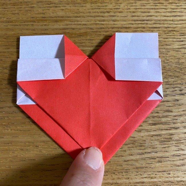折り紙でつくる【ハートの名札】の折り方 (13)