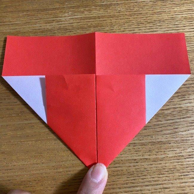 折り紙でつくる【ハートの名札】の折り方 (6)