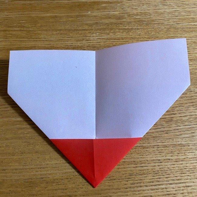 折り紙でつくる【ハートの名札】の折り方 (7)