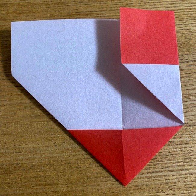 折り紙でつくる【ハートの名札】の折り方 (8)