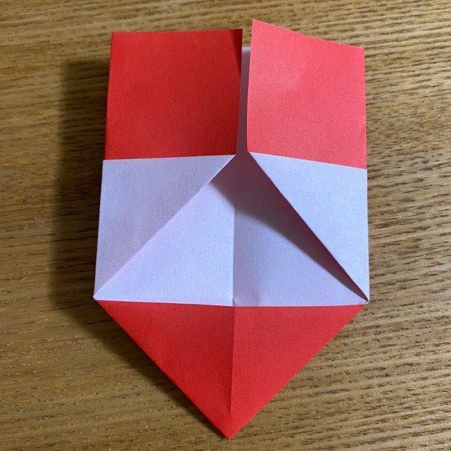 折り紙でつくる【ハートの名札】の折り方 (9)