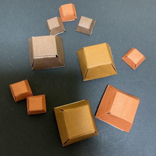 折り紙でつくるチョコレートの作り方(簡単・立体)★バレンタインデーに向けて作ったよ♪