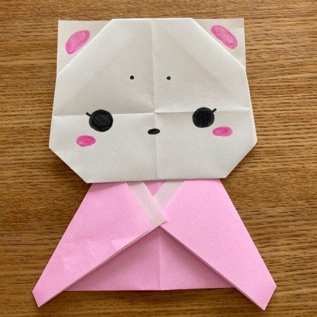 折り紙でつくる猫のひな祭りの作り方・折り方 (21)