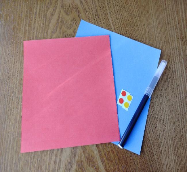 折り紙でつくる節分【鬼】用意するもの