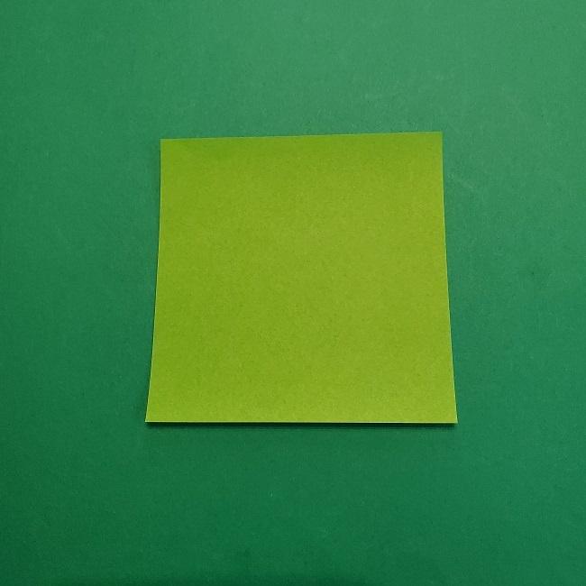 折り紙の【椿の葉っぱ】の折り方★折り図 (1)