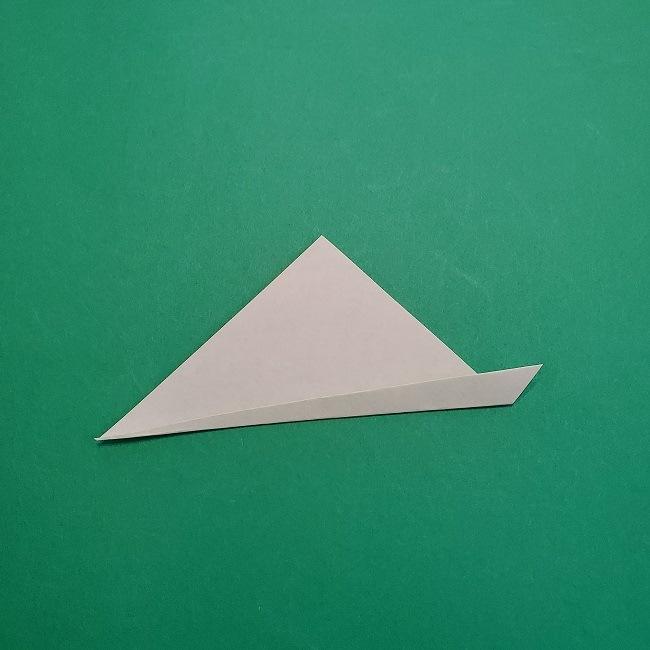 折り紙の【椿の葉っぱ】の折り方★折り図 (3)