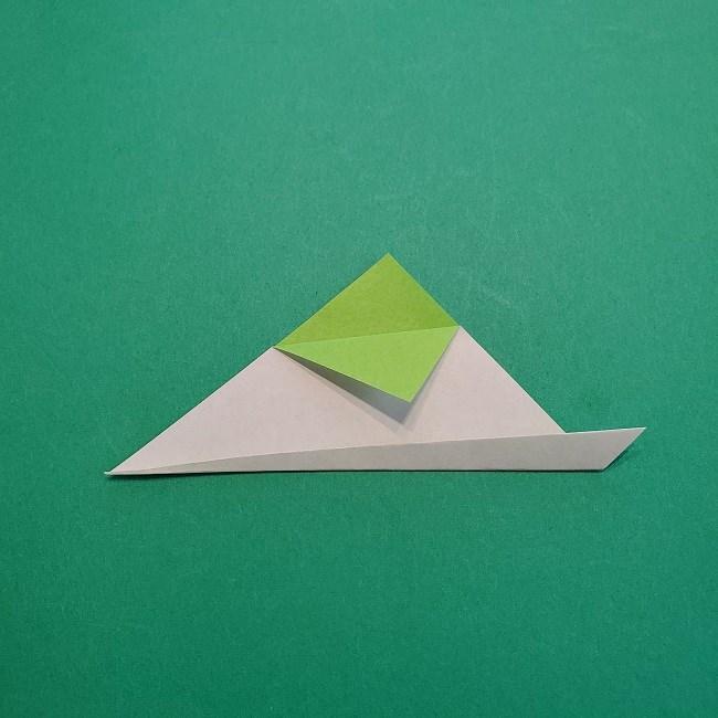 折り紙の【椿の葉っぱ】の折り方★折り図 (4)