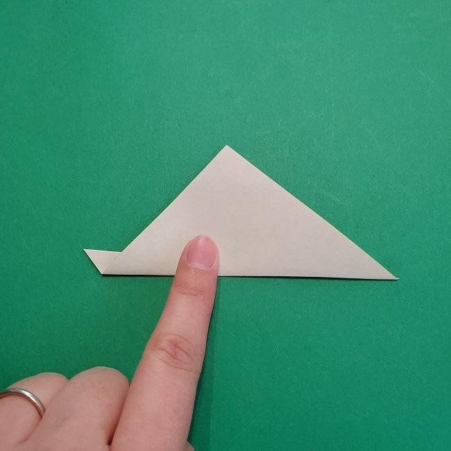 折り紙の【椿の葉っぱ】の折り方★折り図 (5)