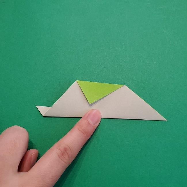 折り紙の【椿の葉っぱ】の折り方★折り図 (6)