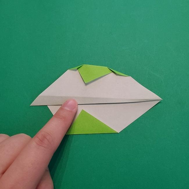 折り紙の【椿の葉っぱ】の折り方★折り図 (8)