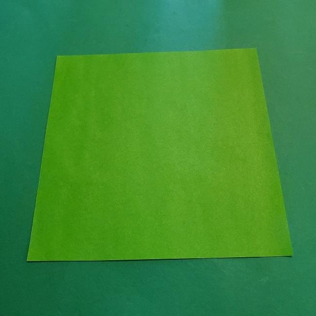 折り紙の【竹の葉】折り方 (1)