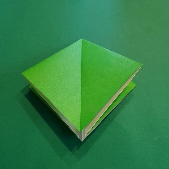 折り紙の【竹の葉】折り方 (10)