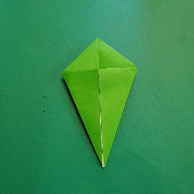 折り紙の【竹の葉】折り方 (12)