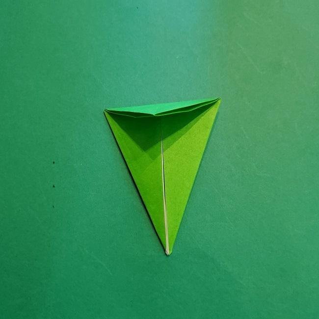 折り紙の【竹の葉】折り方 (13)