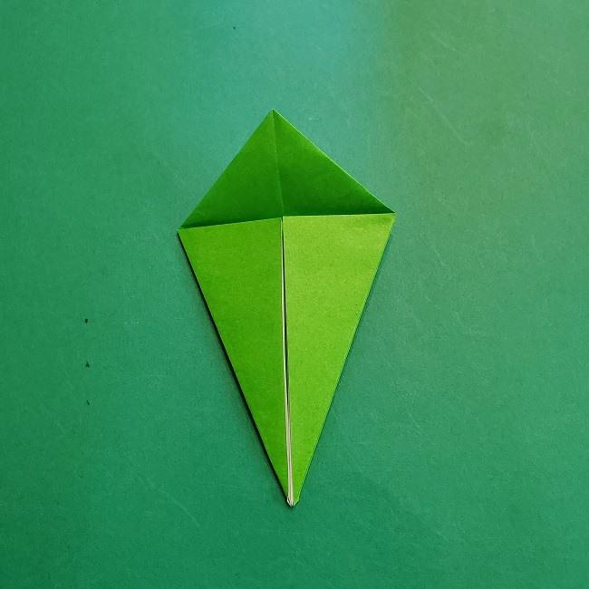 折り紙の【竹の葉】折り方 (14)